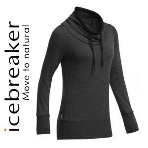Icebreaker W's Boreal LS cowl-neck sweater